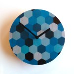 blue hex clock