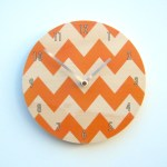 chevron - orange with numbers