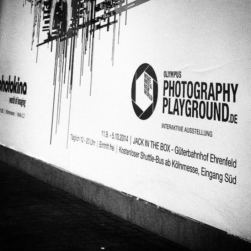 Na da kann man ja mal reinschauen... #photokina #Olympus #Photoplayground bei #JackInTheBox #ummeEcke #Mittagspause am #Ehrenfeld #Güterbahnhof #t Instagram