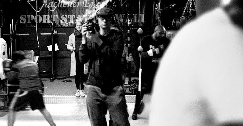 WDR Kamerateam beim Boxtraining