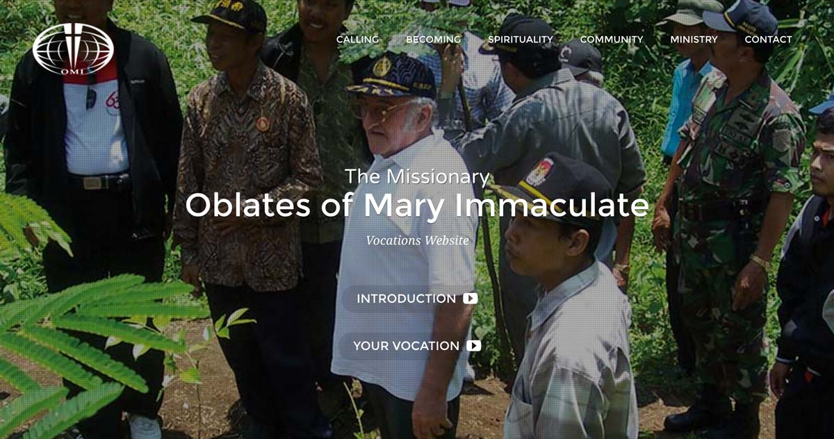 The Oblate Vocations website