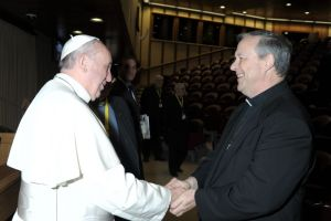 Fr Lougen OMI with His Holiness Pope Francis