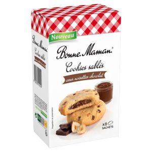 Μπισκότα Γεμιστά με Σοκολάτα και Φουντούκι Bonne Maman Cookies Sables Noisettes Chocolat 200g