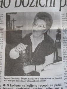 Renata Gotthardi-Škiljan u Večernjem listu 1992.