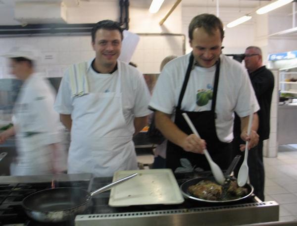 izvan konkurencije: Mate Janković, chef iz ocjenjivačkoga suda televizijskoga Masterchefa, i župan krapinsko-zagorski (Snimila Božica Brkan / Acumen)