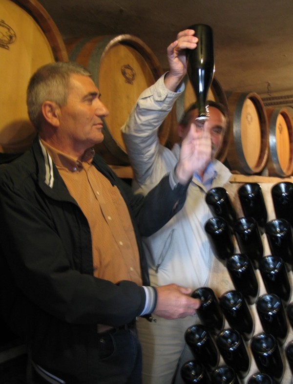 Umjesto svojim Kitokretom, član komisije i vinar Sontaki pozira s Miklaužićevim Glamourom (Snimila Božica Brkan / Acumen)