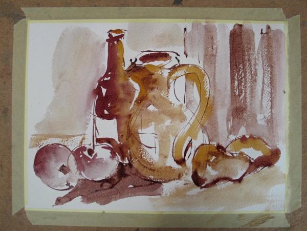 Jedan od ovogodišnjih crteža vinom