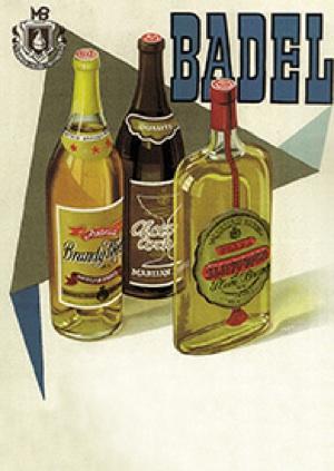 Oglas za Brandy MedicinalMarijana Badela  oko 1960. (Fotografija Badel 1862)