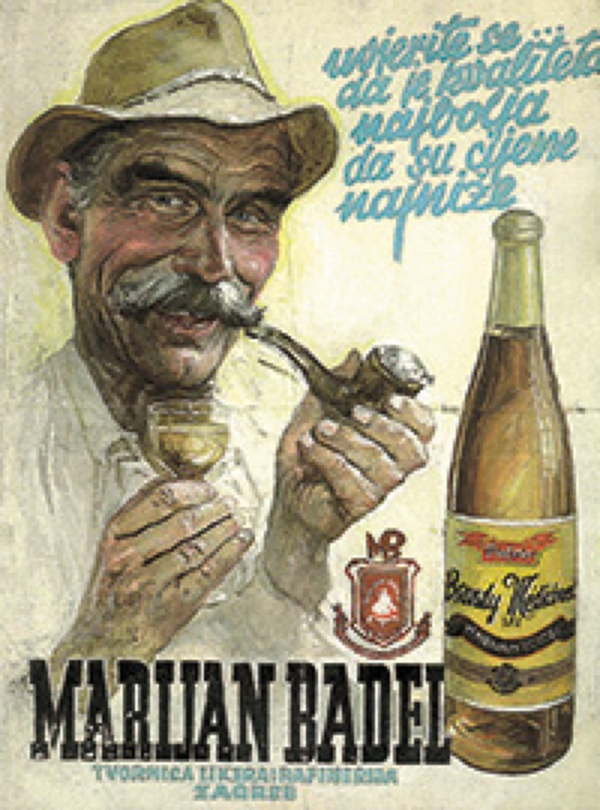 Rukom crtani oglas oko 1965. (Fotografija Badel 1862)