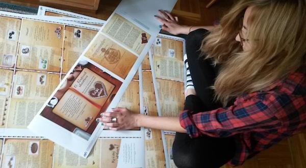 Autorica dizajnerskoga rješenja Iva Komesar nad svojim radom