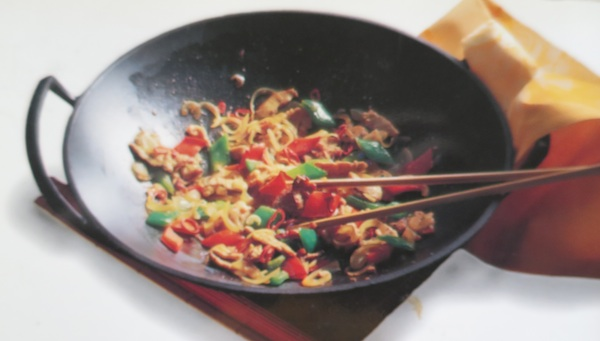 Priprema jela u woku (Oblizeki)