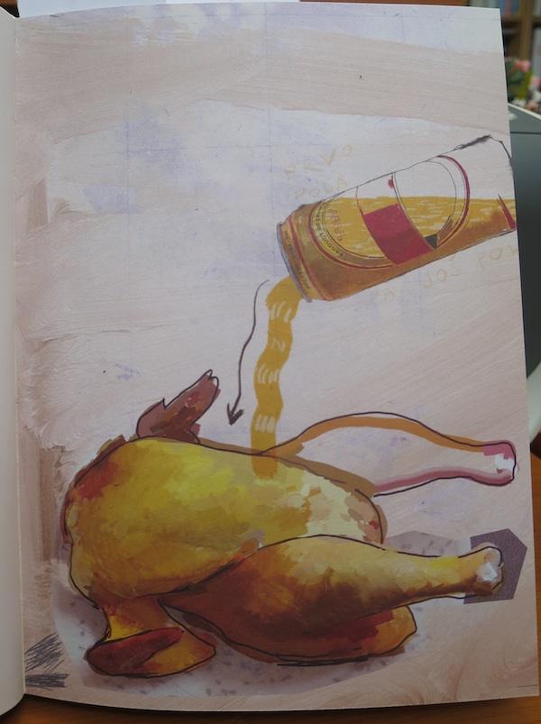 """Jedna od Dučkovih ilustracija iz """"Male pivske kuharice"""""""