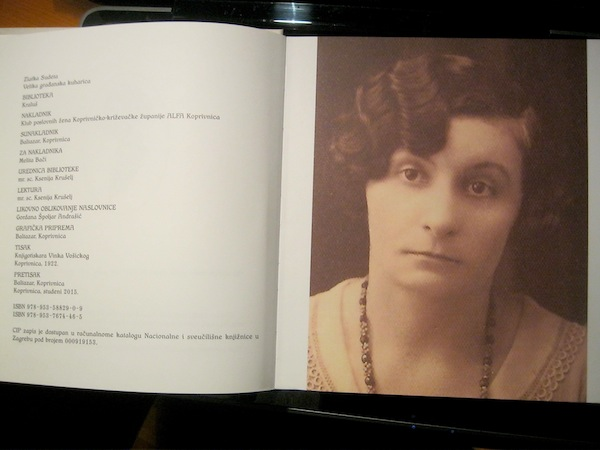 Iz knjige: portret Zlatke Sudete iz obiteljskog albuma  (Snimio Miljenko Brezak / Oblizeki)