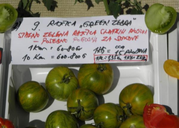 Hoće li jedna od poznatijih zelenih sorta osvojiti uzgajivače i potrošače rajčice? (Fotografija Brkanović / Oblizeki)