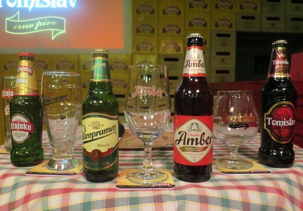 Četiri piva prema kojima su kreirana kušana jela (Fotografija Miljenko brezak / Oblizeki)