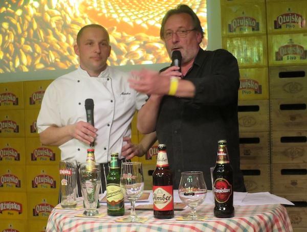 Kreatori sljubljivanja chef Marko Jovanović i Željko Šatović Gula, autor pivske kuharice (Fotografija Miljenko Brezak / Oblizeki)