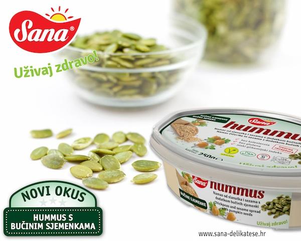 Reklama za jedan od Saninih humusa