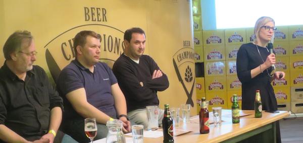 Doc. dr. sc. Darija Vrandešić Bender promovira zdravo pijenje na jednom gastrodogađaju za ljubitelje piva (Fotografija Miljenko Brezak / Oblizeki)