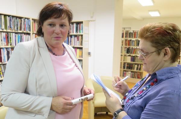 Dožupanica krapinsko-zagorska Jasna Petek u razgovoru s urednicom Oblizeka Božicom Brkan (Fotografija Miljenko Brezak)