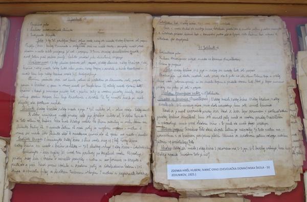 Bilježnica s receptima Zdenke