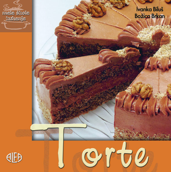 Naslovnica knjižice Ivanke Biluš i Božice Brkan s klasičnim tortama