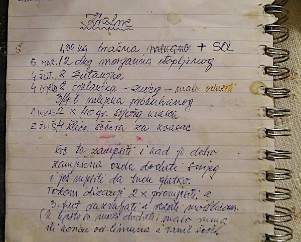Krasopisom zapisan recept, upravo ovaj (Fotografija Robert Slezak / Oblizeki)