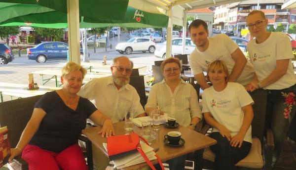 Ekipa Oblizeka i TZ Marija Bistrica na utvrđivanju gradiva uoči ocjenjivanja (Fotografija Miljenko Brezak / Oblizeki)