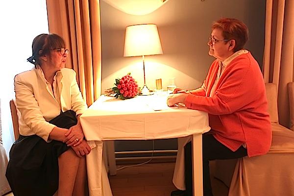 Razgovor ugodni: Svjetlana Celija i Božica Brkan (Fotografija Miljenko Brezak)