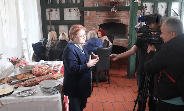 Božica Brkan za HTV govori o gastronomskom spajanju zelene i plave Hrvatske (Fotografija Miljenko Brezak / Oblizeki)