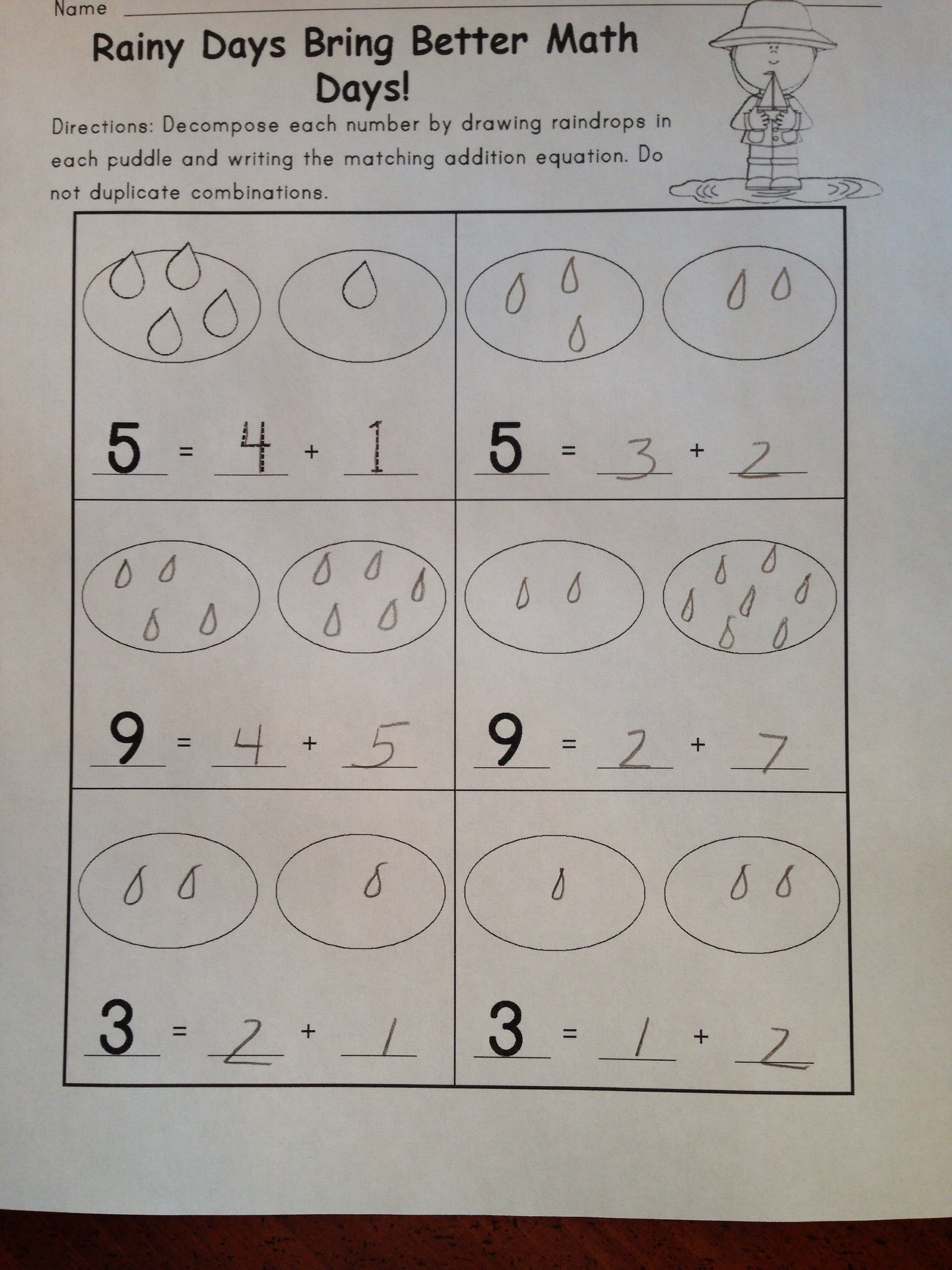 Decomposing Numbers 3 10 Center Activity Amp Practice