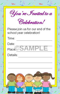 kindergarten end of the year invitation editable