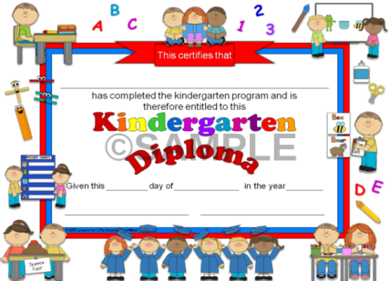 kindergarten diploma & graduation invitation editable