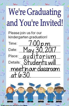 kindergarten graduation invitations editable