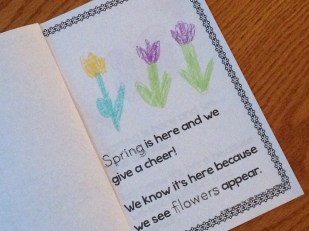 spring season emergent reader book