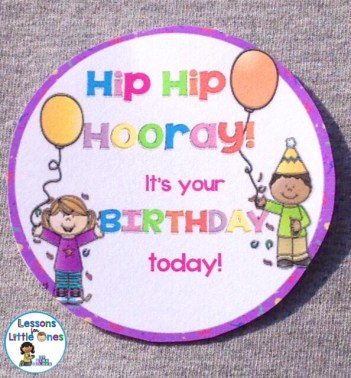 student birthday badge