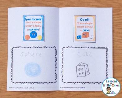 3D shapes brag tag book