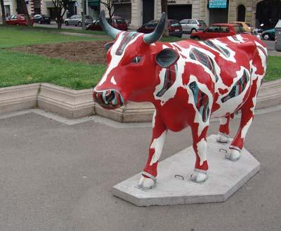 Una vaca de la Cow Parade Barcelona 2005