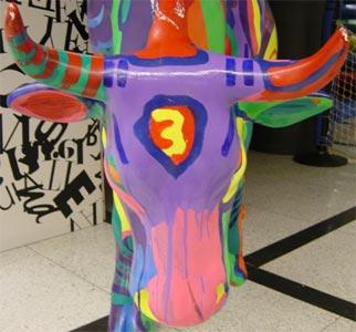 Vacas de la Cow Parade Barcelona 2005 en el Pedralbes Center