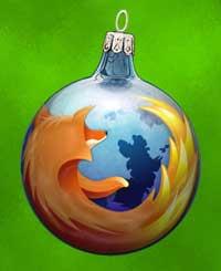 El zorro de Firefox, en versión bola de árbol de navidad