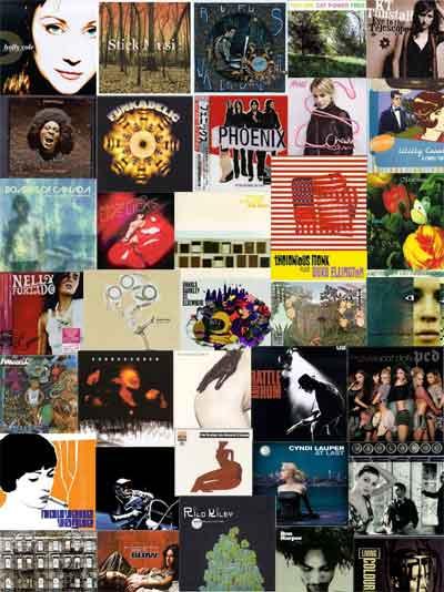 Un collage de discos