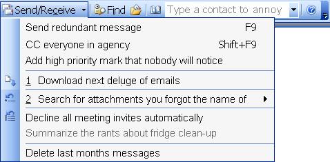 Una captura de pantalla amañada de un cliente de correo. Explicado en el texto