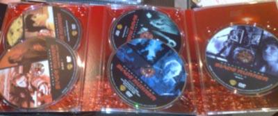 Los cinco DVDs de la caja