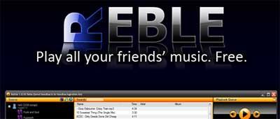 Captura de pantalla de la web de reble.fm