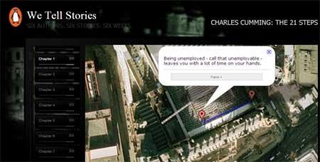 Captura de pantalla del primer capítulo de The 21 Steps