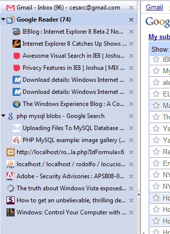 Capura de pantalla de Firefox con hasta 18 pestañas abiertas en vertical