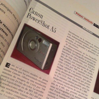 Crítica de la Canon Powershot A5