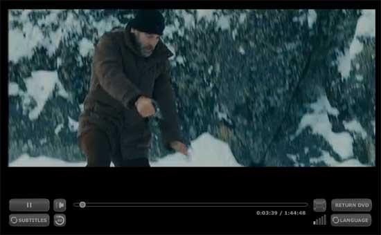 Captura de pantalla del reproductor de vídeo de Zediva.com