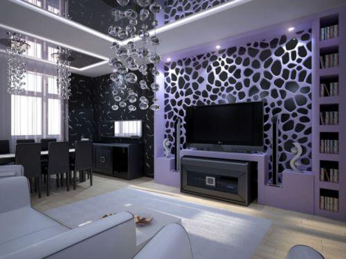 Какие обои выбрать для зала: сочетание с мебелью