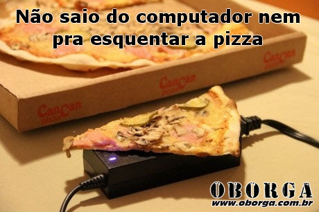 Mantendo a pizza quente!