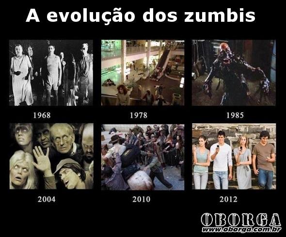 A evolução dos zumbis